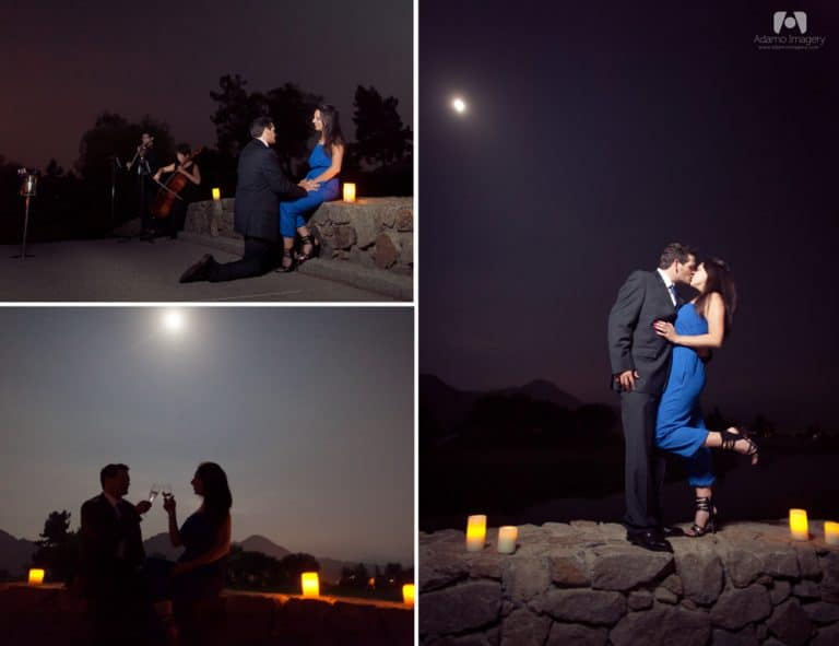 Midnight Marriage Proposal | Indian Wells, CA